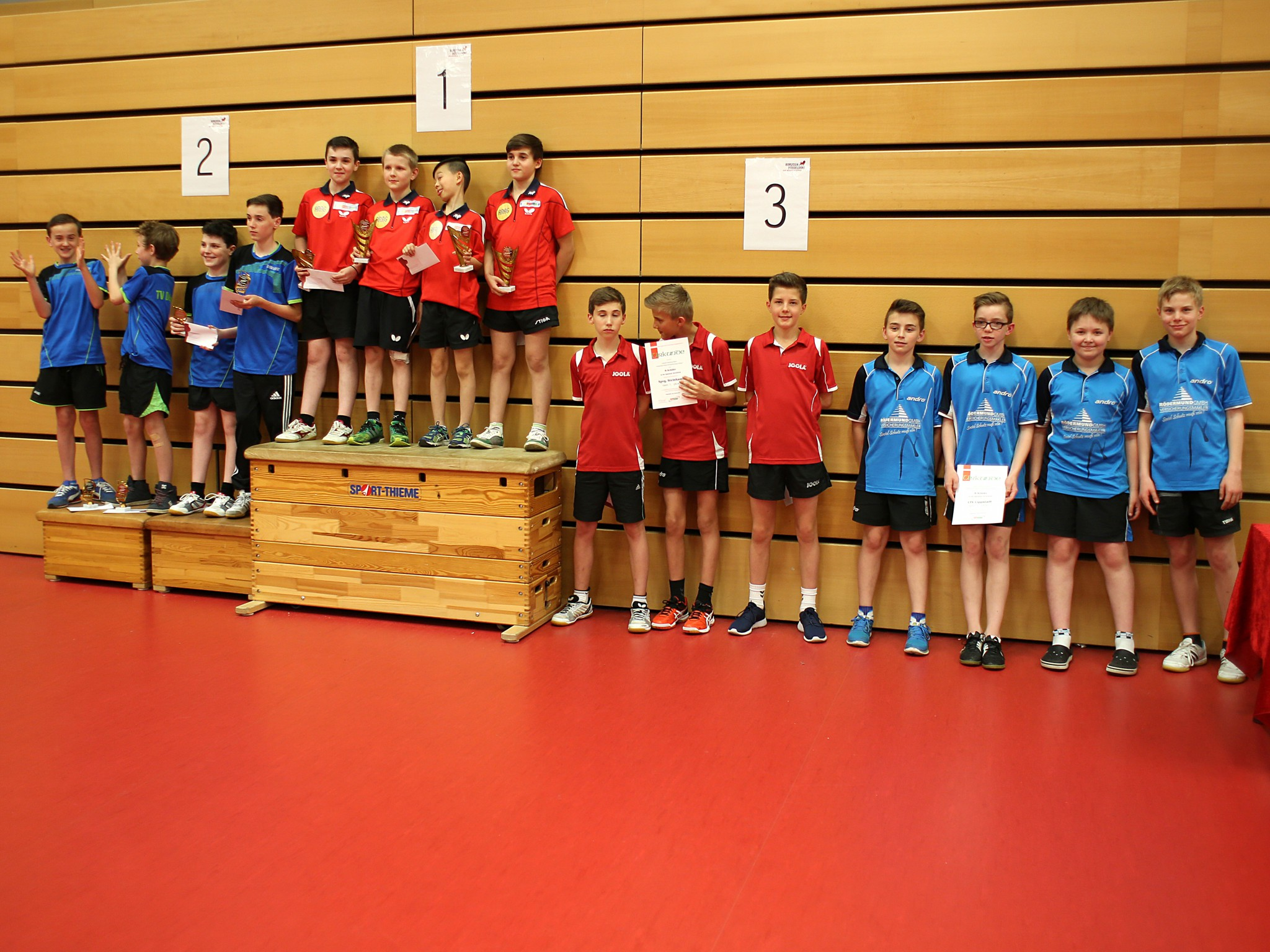 4. Platz bei Westdeutschen B-Schüler Mannschafts-meisterschaften
